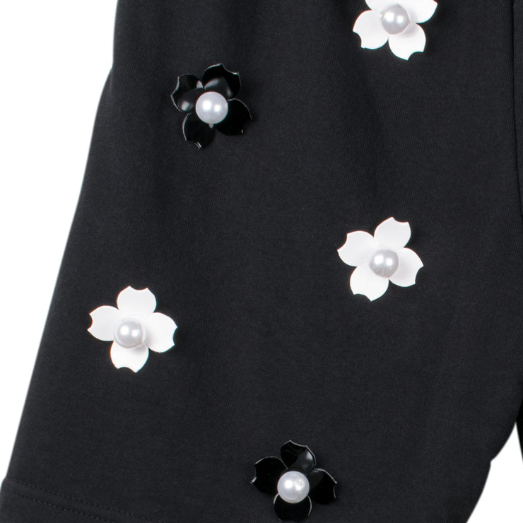 "Shorts ""Pearly Roses"" - black (detail)"
