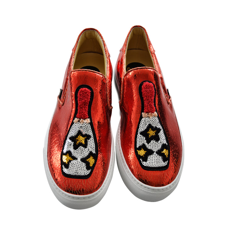 "Slip-on ""Pins"" - red"
