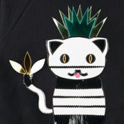 "Sweatshirt ""Ananas"" - black (detail application)"