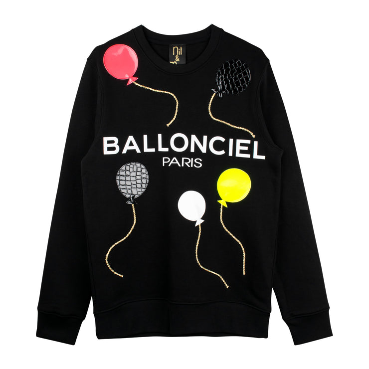 "Sweatshirt ""Ballonciel"" - black"