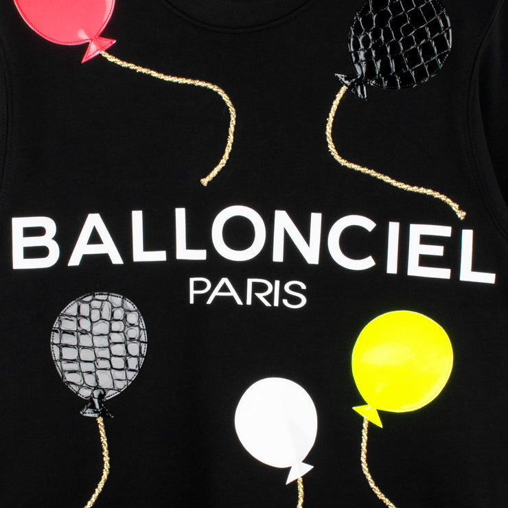 "Sweatshirt ""Ballonciel"" - black (detail application)"