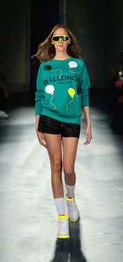 "Sweatshirt ""Ballonciel"" - emerald (model)"