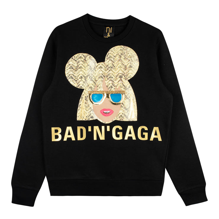 "Sweatshirt ""Bad'n'Gaga"" - black"