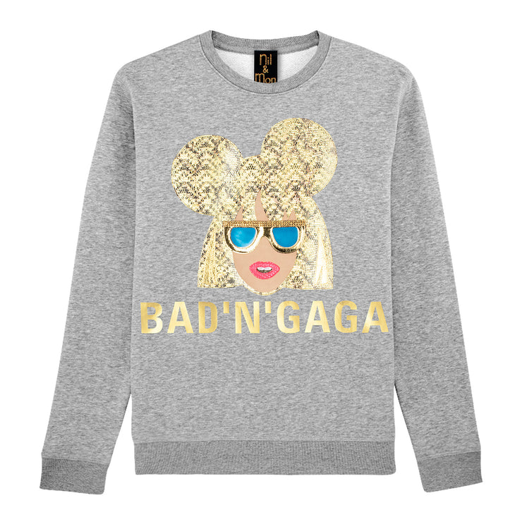 "Sweatshirt ""Bad'n'Gaga"" - grey melange"