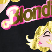 "Sweatshirt ""Blondie Girl"" - black (detail application)"