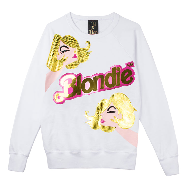 "Sweatshirt ""Blondie Girl"" - white"