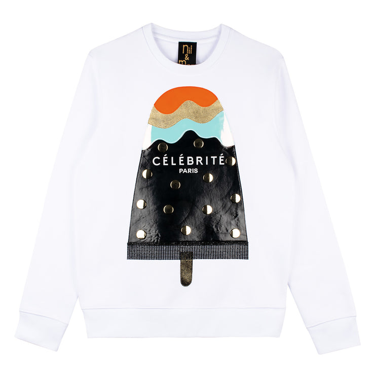 "Sweatshirt ""Celebrite"" - white"