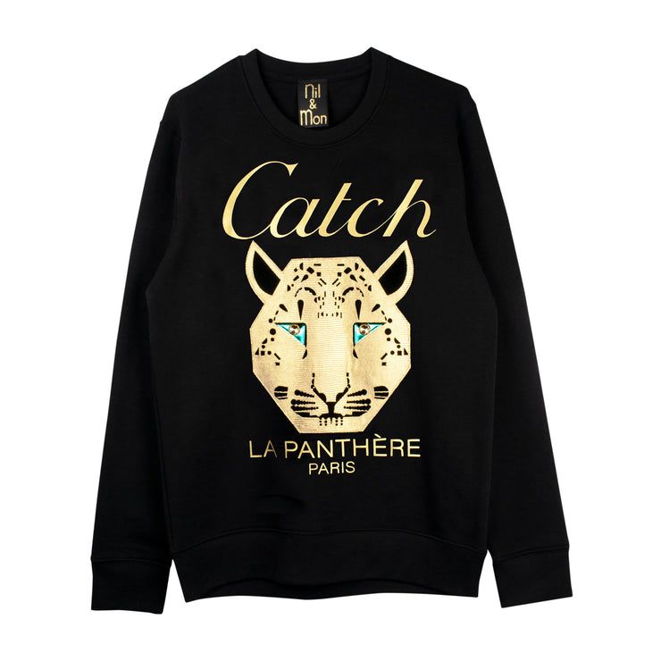 "Sweatshirt ""Catch"" - black"