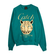 "Sweatshirt ""Catch"" - emerald"