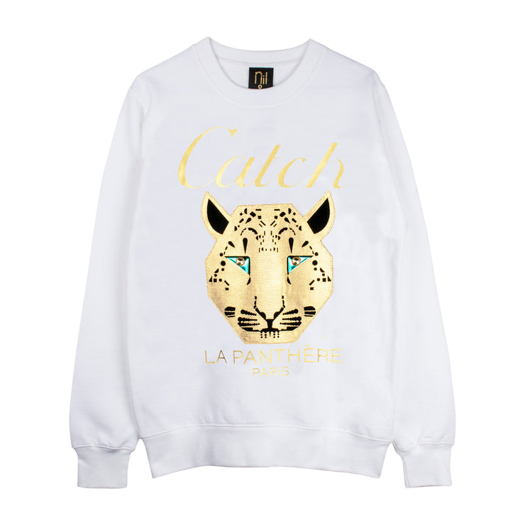 "Sweatshirt ""Catch"" - white"