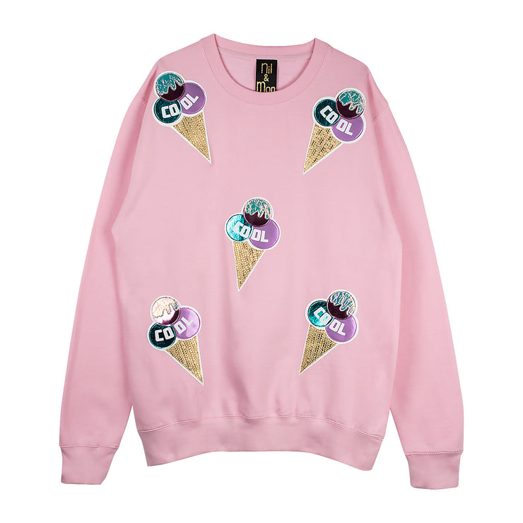"Sweatshirt ""Cool Ice"" - light pink"