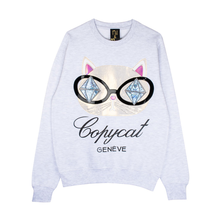 "Sweatshirt ""Copycat"" - light grey"