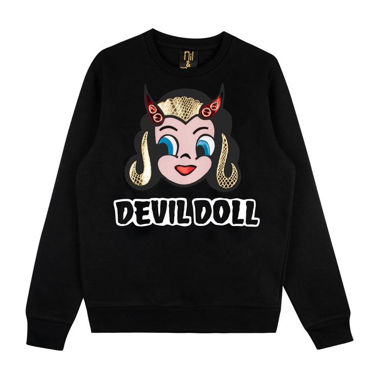 "Sweatshirt ""Devil Doll"" - black"