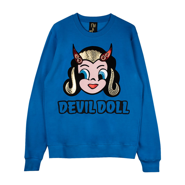 "Sweatshirt ""Devil Doll"" - blue"