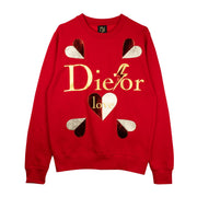 "Sweatshirt ""Die for Love"" - red"