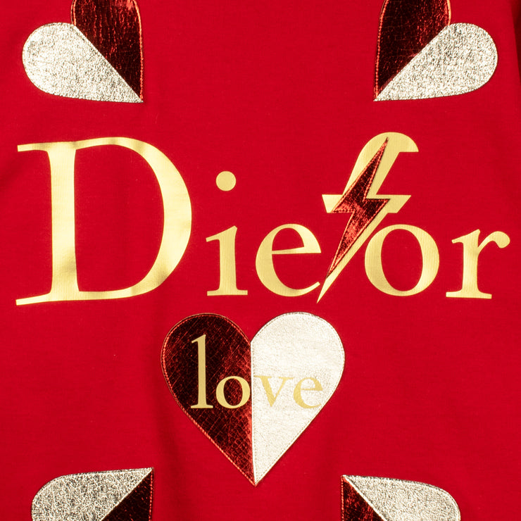 "Sweatshirt ""Die for Love"" - red (detail application)"