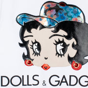 "Sweatshirt ""Dolls & Gadgets"" - white (detail)"