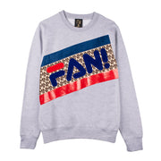 "Sweatshirt ""Fan"" - grey melange"
