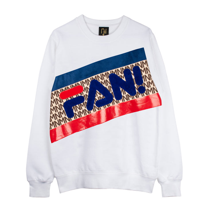 "Sweatshirt ""Fan"" - white"