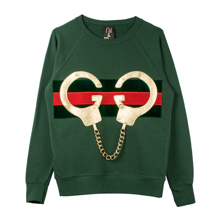 "Sweatshirt ""Golden Handcuffs"" - green"