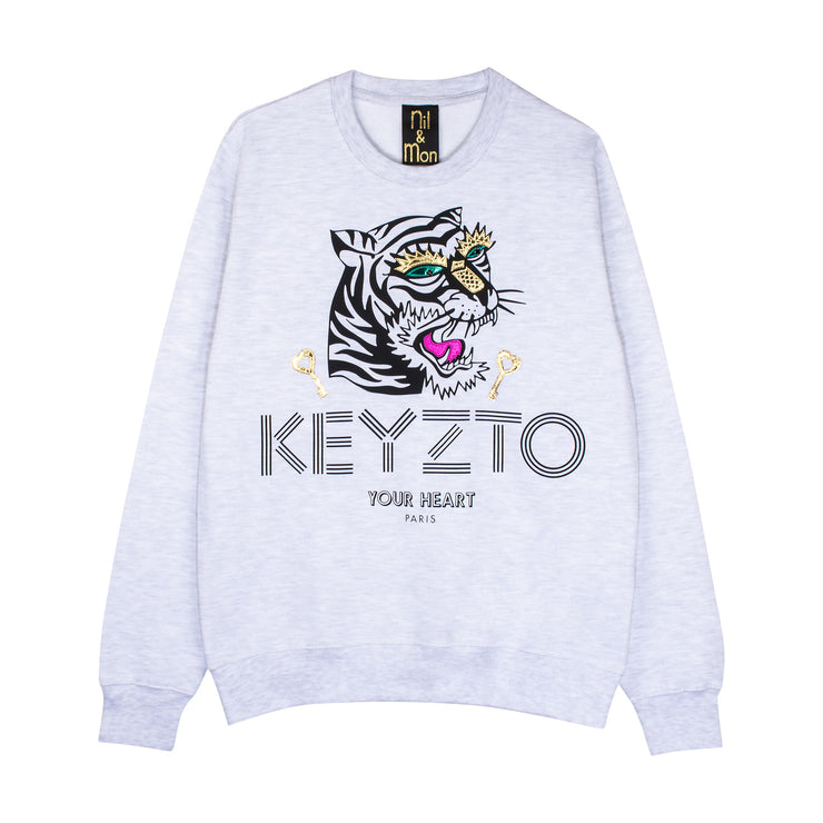"Sweatshirt ""Keyzto"" - light grey"