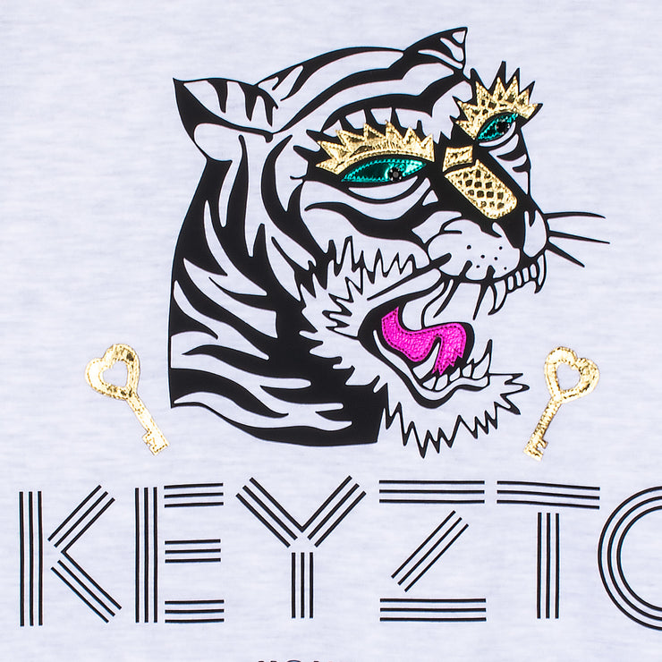 "Sweatshirt ""Keyzto"" - light grey (detail)"
