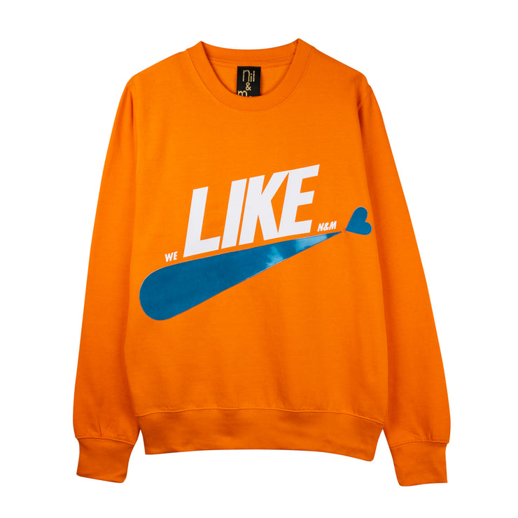 "Sweatshirt ""Like"" - orange"