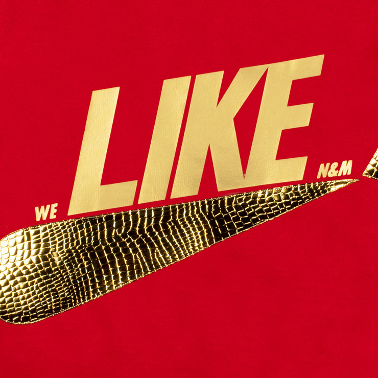 "Sweatshirt ""Like"" - red (detail application)"