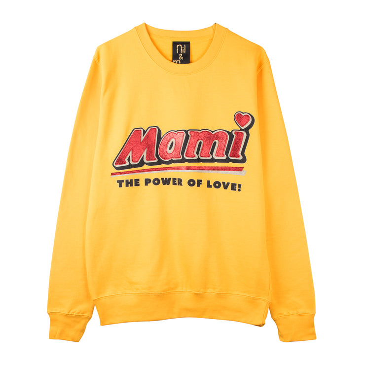 "Sweatshirt ""Mami"" - gold"