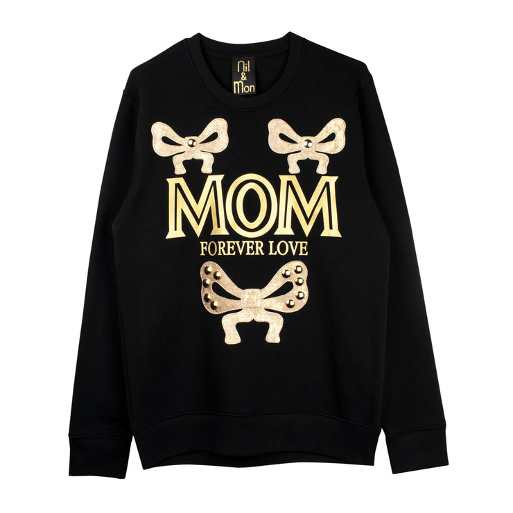 "Sweatshirt ""Mom"" - black"