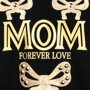 "Sweatshirt ""Mom"" - black (detail application)"