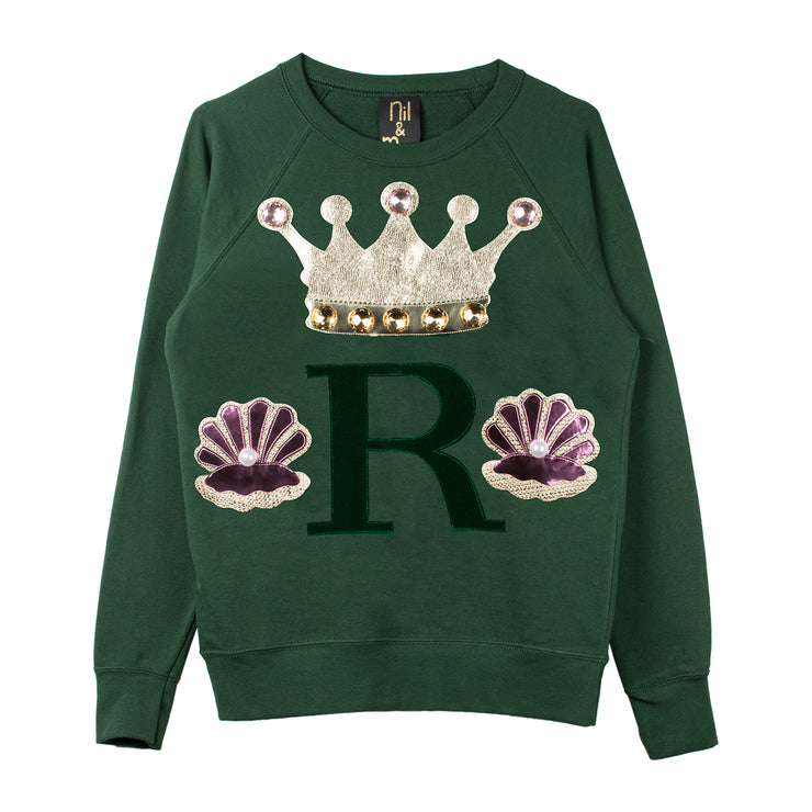 "Sweatshirt ""Oyster"" - green"
