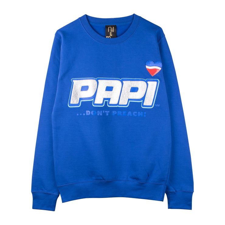 "Sweatshirt ""Papi"" - royal blue"