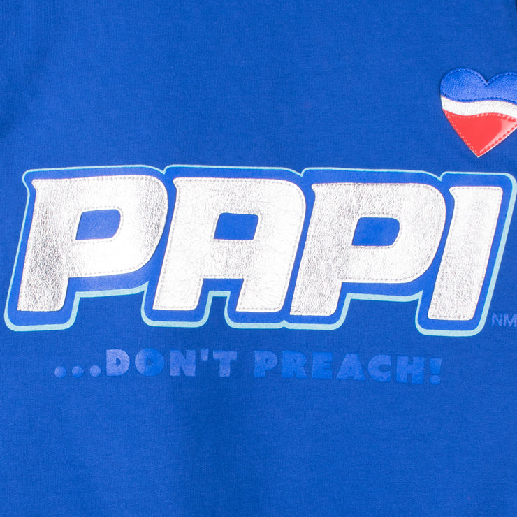 "Sweatshirt ""Papi"" - royal blue (detail application)"