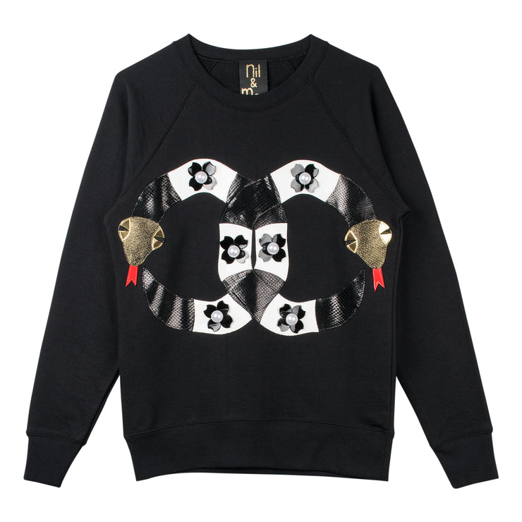 "Sweatshirt ""Pearly Snakes"""