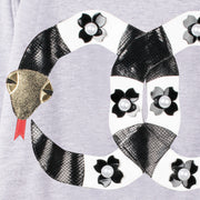 "Sweatshirt ""Pearly Snakes"" - grey melange (detail application)"