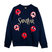 "Sweatshirt ""Saint Liar"" - dark blue"