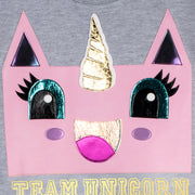 "Sweatshirt ""Team UC"" - grey melange (detail application)"