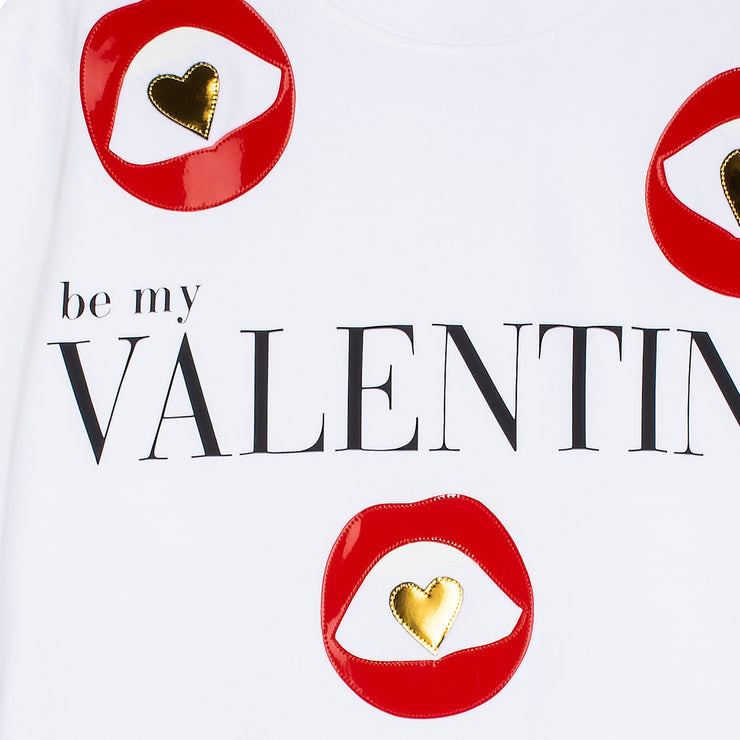 "Sweatshirt ""Valentine"" - white (detail)"