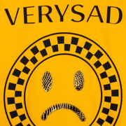 "Sweatshirt ""Very Sad"" - yellow (detail application)"