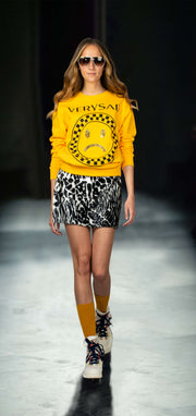 "Sweatshirt ""Very Sad"" - yellow (model)"