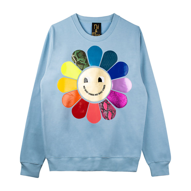 "Sweatshirt ""Vibes"" - light blue"