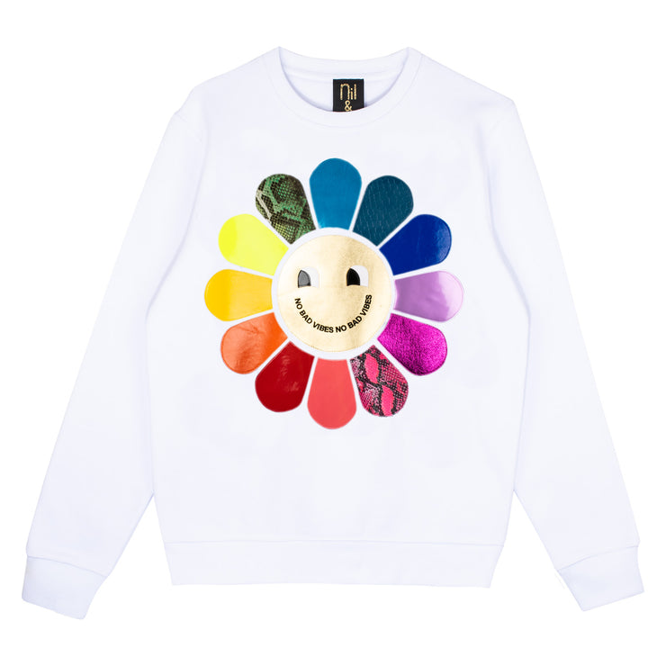 "Sweatshirt ""Vibes"" - white"