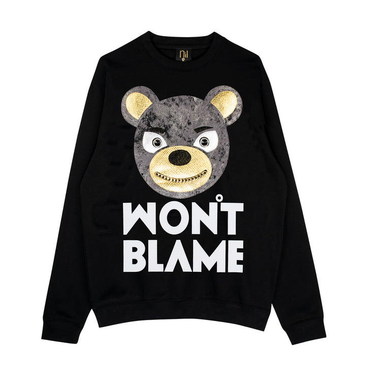 "Sweatshirt ""Won't Blame"" - black"