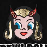 "Sweatshirt ""Devil Doll"" - black (Detail)"
