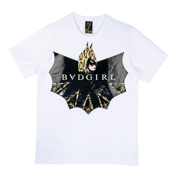"T-Shirt ""Badgirl"" - white"