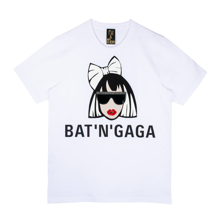 "T-Shirt ""Bat'n'Gaga"" - white"