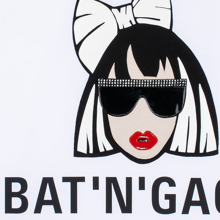 "T-Shirt ""Bat'n'Gaga"" - white (detail)"