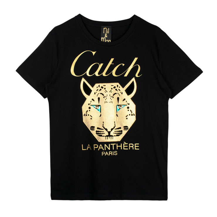 "T-Shirt ""Catch"" - black"