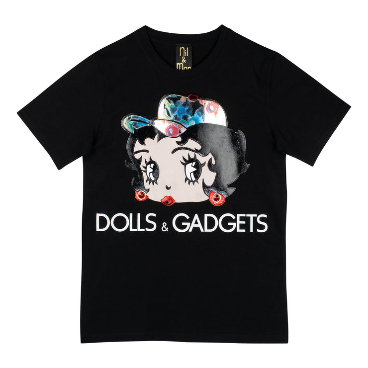 "T-Shirt ""Dolls & Gadgets"" - black"